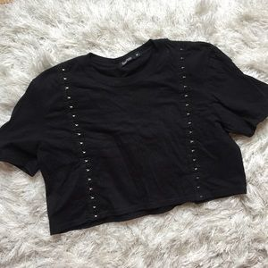 3 for $10 💋 Black Cropped Tee